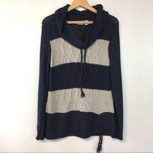 [Cato] Navy Striped Cowl Neck Pullover Sweater